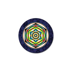 Flower Of Life Universal Mandala Golf Ball Marker by BangZart