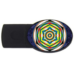Flower Of Life Universal Mandala Usb Flash Drive Oval (2 Gb)