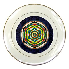 Flower Of Life Universal Mandala Porcelain Plates by BangZart