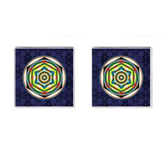 Flower Of Life Universal Mandala Cufflinks (square) by BangZart