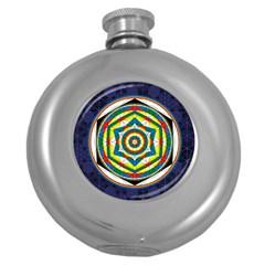 Flower Of Life Universal Mandala Round Hip Flask (5 Oz) by BangZart