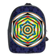Flower Of Life Universal Mandala School Bags(large)