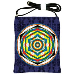 Flower Of Life Universal Mandala Shoulder Sling Bags by BangZart