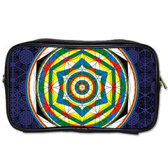 Flower Of Life Universal Mandala Toiletries Bags 2 Side