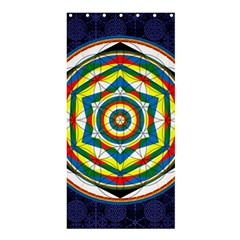 Flower Of Life Universal Mandala Shower Curtain 36  X 72  (stall)
