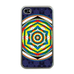Flower Of Life Universal Mandala Apple Iphone 4 Case (clear) by BangZart