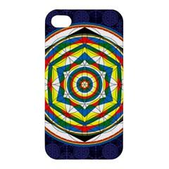 Flower Of Life Universal Mandala Apple Iphone 4/4s Hardshell Case by BangZart