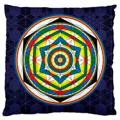 Flower Of Life Universal Mandala Large Cushion Case (one Side) by BangZart