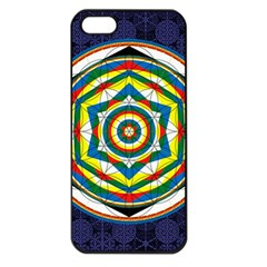 Flower Of Life Universal Mandala Apple Iphone 5 Seamless Case (black)