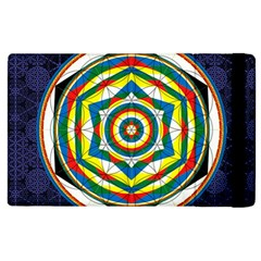 Flower Of Life Universal Mandala Apple Ipad 3/4 Flip Case by BangZart