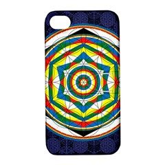 Flower Of Life Universal Mandala Apple Iphone 4/4s Hardshell Case With Stand