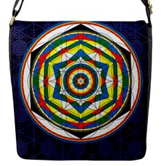 Flower Of Life Universal Mandala Flap Messenger Bag (s) by BangZart