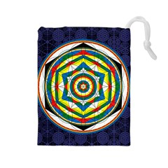 Flower Of Life Universal Mandala Drawstring Pouches (large)  by BangZart