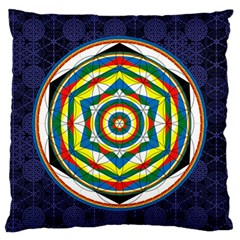 Flower Of Life Universal Mandala Standard Flano Cushion Case (two Sides) by BangZart