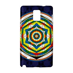 Flower Of Life Universal Mandala Samsung Galaxy Note 4 Hardshell Case by BangZart