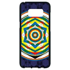 Flower Of Life Universal Mandala Samsung Galaxy S8 Black Seamless Case