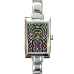 Curves Color Abstract Rectangle Italian Charm Watch by BangZart