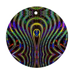 Curves Color Abstract Ornament (round)
