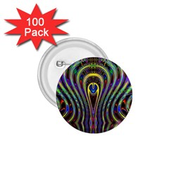 Curves Color Abstract 1 75  Buttons (100 Pack)