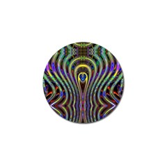 Curves Color Abstract Golf Ball Marker by BangZart