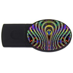 Curves Color Abstract Usb Flash Drive Oval (2 Gb) by BangZart