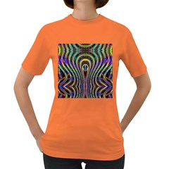 Curves Color Abstract Women s Dark T Shirt