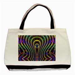 Curves Color Abstract Basic Tote Bag by BangZart