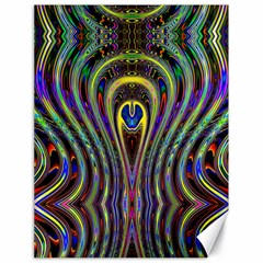 Curves Color Abstract Canvas 18  X 24   by BangZart