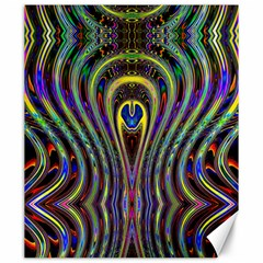 Curves Color Abstract Canvas 20  X 24   by BangZart