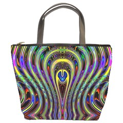 Curves Color Abstract Bucket Bags