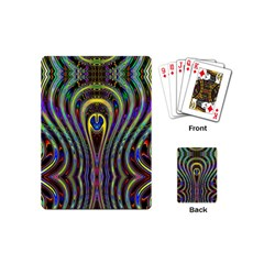 Curves Color Abstract Playing Cards (mini)  by BangZart