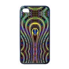 Curves Color Abstract Apple Iphone 4 Case (black)