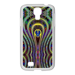 Curves Color Abstract Samsung Galaxy S4 I9500/ I9505 Case (white) by BangZart