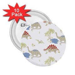 Dinosaur Art Pattern 2 25  Buttons (10 Pack)  by BangZart