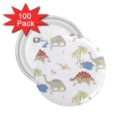 Dinosaur Art Pattern 2 25  Buttons (100 Pack)