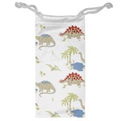 Dinosaur Art Pattern Jewelry Bag by BangZart