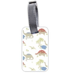Dinosaur Art Pattern Luggage Tags (two Sides)