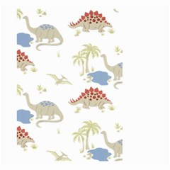 Dinosaur Art Pattern Small Garden Flag (two Sides)