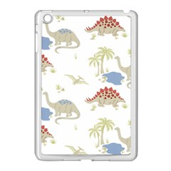 Dinosaur Art Pattern Apple Ipad Mini Case (white)