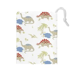 Dinosaur Art Pattern Drawstring Pouches (large)