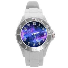Galaxy Round Plastic Sport Watch (l) by Kathrinlegg