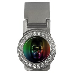 Digital Art Psychedelic Face Skull Color Money Clips (cz)  by BangZart