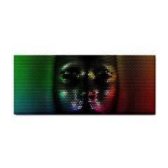 Digital Art Psychedelic Face Skull Color Cosmetic Storage Cases by BangZart