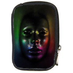 Digital Art Psychedelic Face Skull Color Compact Camera Cases by BangZart