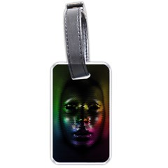 Digital Art Psychedelic Face Skull Color Luggage Tags (two Sides) by BangZart