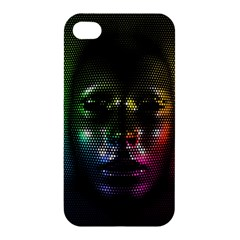 Digital Art Psychedelic Face Skull Color Apple Iphone 4/4s Hardshell Case by BangZart