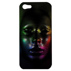 Digital Art Psychedelic Face Skull Color Apple Iphone 5 Hardshell Case
