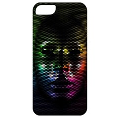 Digital Art Psychedelic Face Skull Color Apple Iphone 5 Classic Hardshell Case
