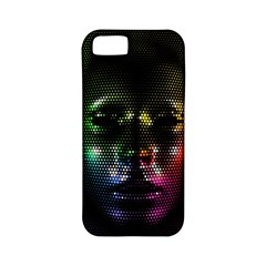 Digital Art Psychedelic Face Skull Color Apple Iphone 5 Classic Hardshell Case (pc+silicone) by BangZart