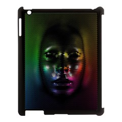 Digital Art Psychedelic Face Skull Color Apple Ipad 3/4 Case (black) by BangZart